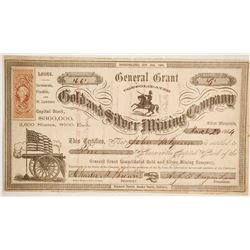 General Grant Consolidated Gold and Silver Mining Company Stock  (80310)