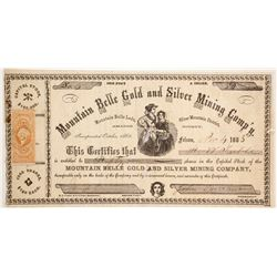 Mountain Belle Gold and Silver Mining Company Stock  (80327)