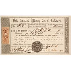 New England Mining Company of Colorado stock  (86034)
