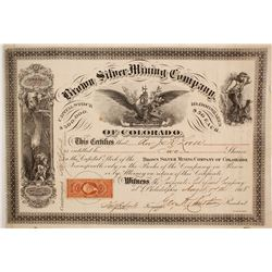 Brown Silver Mining Company of Colorado Stock  (86032)