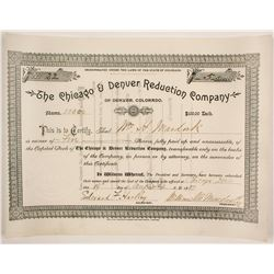 Chicago & Denver Reduction Company Stock  (86732)
