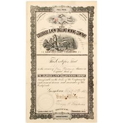 The Colorado & New England Mining Company Stock Certificate  (60668)