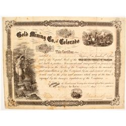 Gold Mining Co. of Colorado Stock - Goddess of Gold Vignette  (87933)