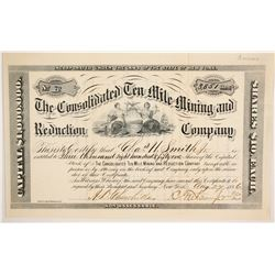Consolidated Ten Mile MIning and Reduction Company Stock  (86729)