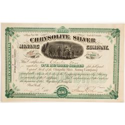 Chrysolite Silver Mining Co. Stock Certificate, Leadville  (86736)