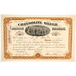 Chrysolite Silver Mining Co. Stock Certificate, Leadville  (86737)