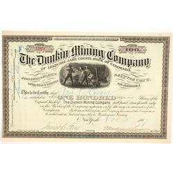 Dunkin Mining Company of Leadville, Lake County, State of Colorado Stock  (86725)