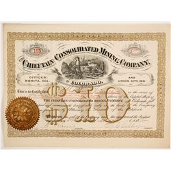 Chieftain Consolidated Mining Company of Colorado Stock Certificate  (86735)