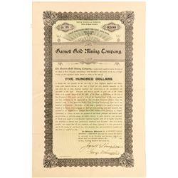 Garnett Gold Mining Company Gold Bond  (55052)
