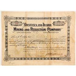 Montana and Idaho Mining and Reduction Company Stock  (88004)