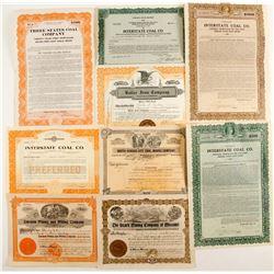 Illinois & Missouri Coal stock certificates  (87233)