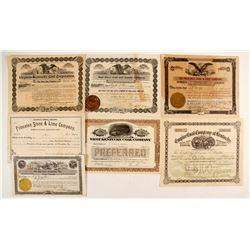 Kentucky Coal stock certificates  (7)  (87261)