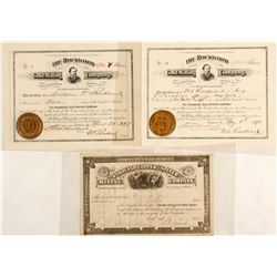Maine Silver Mining Company Stock Certificates (4 count)  (60254)