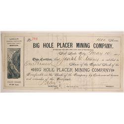 Big Hole Placer Mining Company Stock  (87960)