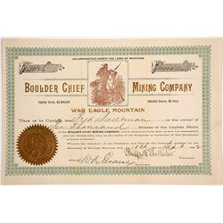 Boulder Chief Mining Company Stock  (87979)