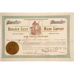 Boulder Chief Mining Company Stock  (87979)