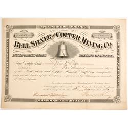 Bell Silver and Copper Mining Company - with Liberty Bell Vignette  (87595)