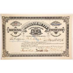 Original Butte Mining Company Stock  (87966)