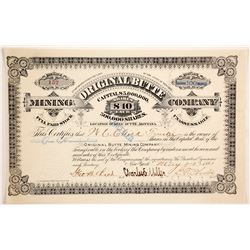Original Butte Mining Company Stock  (87966)