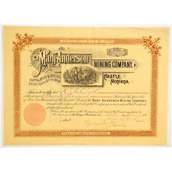 Mary Anderson Mining Company Stock  (88005)