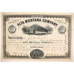 Alta Montana Company Stock  (87961)