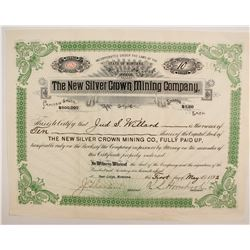 New Silver Crown Mining Company Stock  (87954)