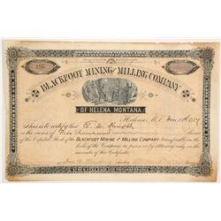 Blackfoot Mining and Milling Company Stock  (87969)