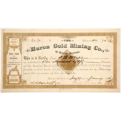 Huron Gold Mining Company of Helena, Montana Stock  (87970)