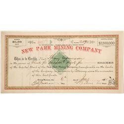 New Park Mining Company Stock  (87972)
