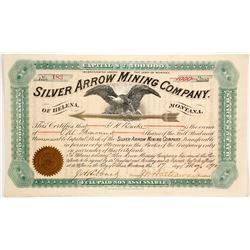 Silver Arrow Mining Company of Helena, Montana Stock  (87974)