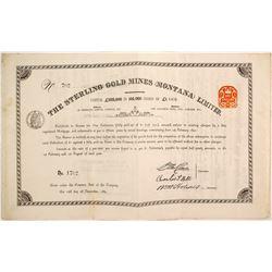 Sterling Gold Mines Bond  (87976)