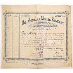 Montana Mining Company Stock  (87971)
