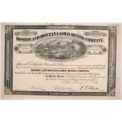 Boston and Montana Gold Mining Company Stock  (87957)