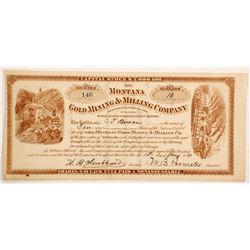 Montana Gold Mining & Milling Company Stock  (87967)