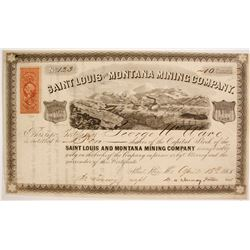 Saint Louis and Montana Mining Company Stock  (7956)
