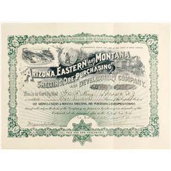 Arizona, Eastern & Montana Smelting, Ore Purchasing & Development Swindle Stock  (62952)
