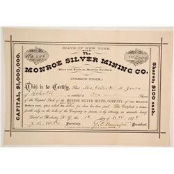 Monroe Silver Mining Company Stock  (88003)