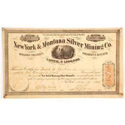 New York & Montana Silver Mining Company Stock  (87965)