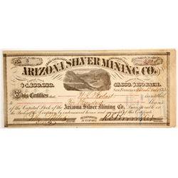 Arizona Silver Mining Company Stock - NUMBER 3  (88133)