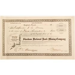 Shoshone National Bank Mining Company Stock Certificate  (60670)