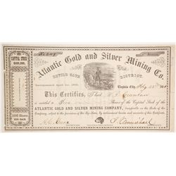 Atlantic Gold and Silver Mining Company Stock  (86107)