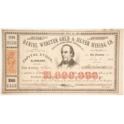 Daniel Webster Gold & Silver Company Stock  (86108)