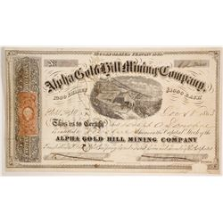Alpha Gold Hill Mining Company Stock  (86113)