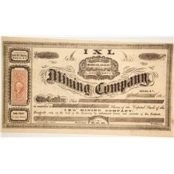 IXL Mining Company Stock  (86106)