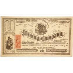 South Overman Mining Company Stock  (86110)