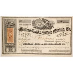 Winters Gold & Silver Mining Company Stock  (86116)