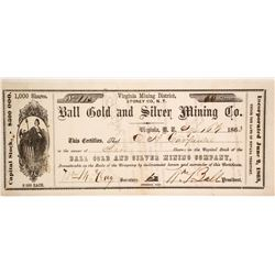 Ball Gold & Silver Mining Company Stock  (86101)