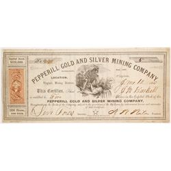 Pepperill Gold and Silver Mining Company Stock  (86076)