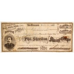 Phil Sheridan Consolidated Minign Company - 1 of 3 Sheridan stocks in this auction  (88129)