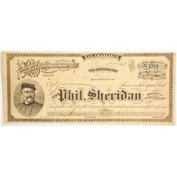 Phil Sheridan Gold & Silver Mining Company - 1 of 3 Sheridan stocks in this auction  (88128)